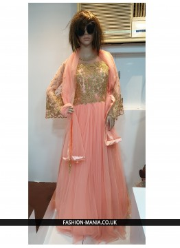 Peach  Designer Gown