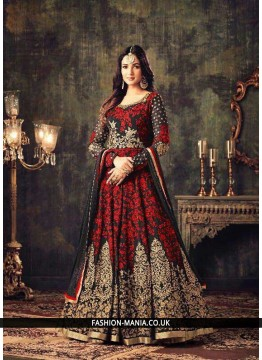 Fine Resham Work georgette Floor Length Anarkali Suit