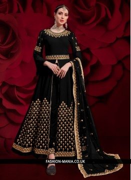 Adorning Black Sangeet Anarkali Salwar Suit