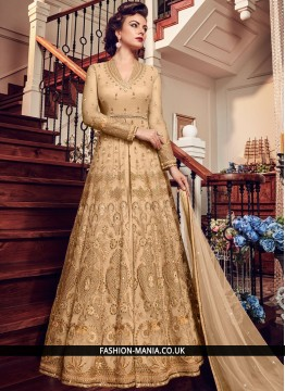 Beige Wedding Floor Length Anarkali Suit