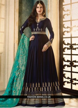 Blue Sequins Party Floor Length Anarkali Suit