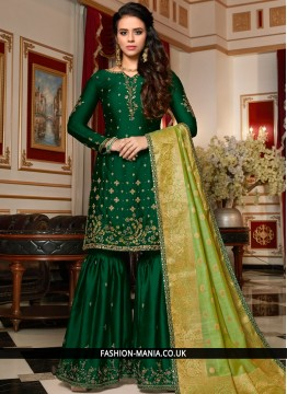 Fetching Georgette Satin Designer Pakistani Suit