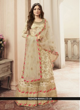 Floral Cream Wedding Salwar Kameez