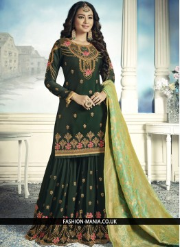 Green Designer Pakistani Suit