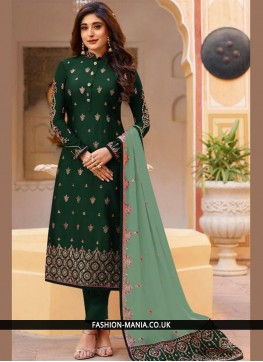 Green Dori Work Anarkali Salwar Suit