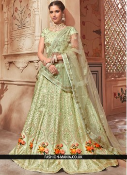 Green Wedding Lehenga Choli