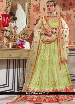 Intrinsic Green Wedding Lehenga Choli
