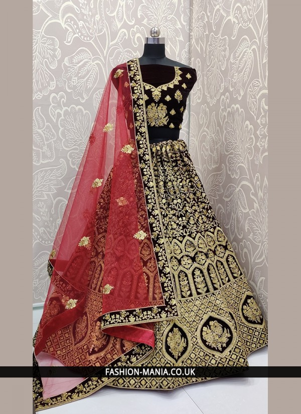 Lively Embroidered Mehndi Lehenga Choli