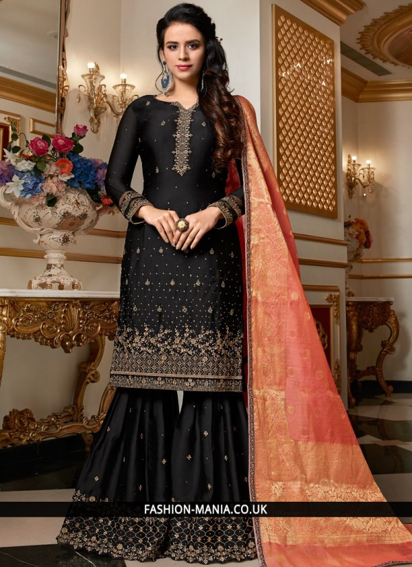 Lovely Georgette Satin Festival Designer Pakistani Suit