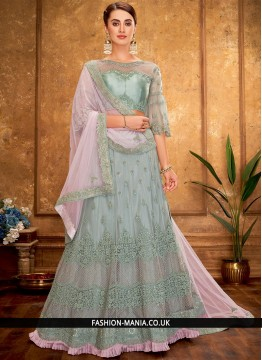 Modernistic A Line Lehenga Choli For Reception