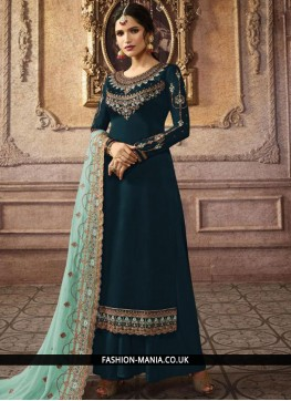 Mystic Faux Georgette Embroidered Trendy Palazzo Salwar Suit