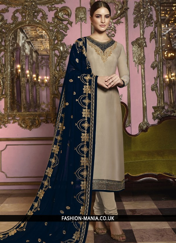 Observable Embroidered Churidar Salwar Suit