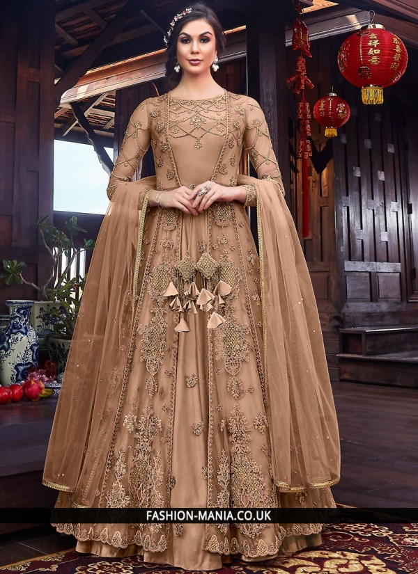 Outstanding Resham Net Floor Length Anarkali Salwar Suit