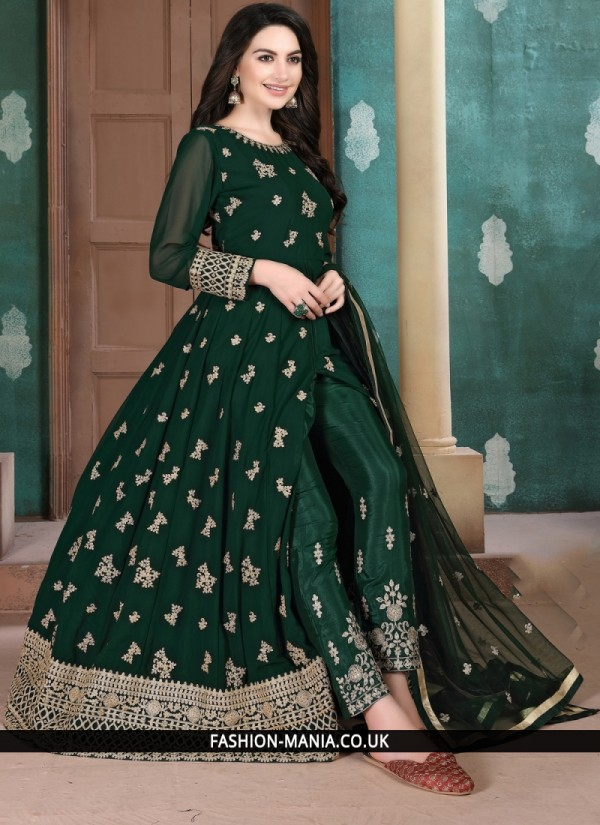 Sophisticated Green Salwar Kameez