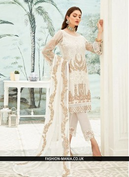Sparkling Off White Festival Pant Style Suit