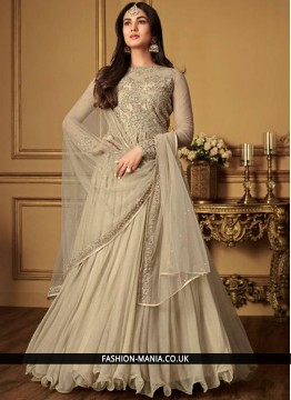 Spectacular Net Embroidered Anarkali Salwar Kameez