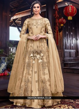 Stupendous Cream Long Length Anarkali Suit