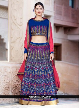 Superb Banglori Silk Blue Lehenga Choli