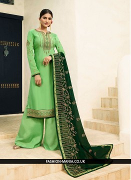 Superb Green Embroidered Designer Pakistani Suit