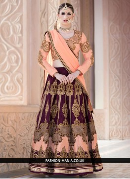Transcendent Embroidered Work Banglori Silk Lehenga Choli