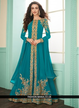 Turquoise Georgette Reception Salwar Suit