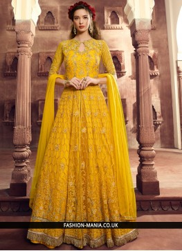 Yellow Wedding Floor Length Anarkali Suit