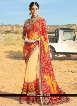 Imperial Georgette Printed Saree