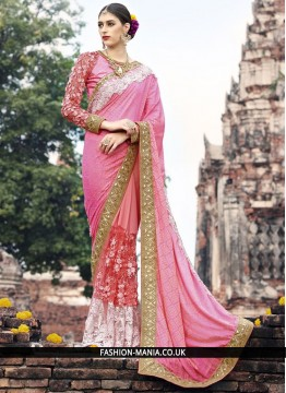 Royal Fancy Fabric Patch Border Work Classic Designer Saree