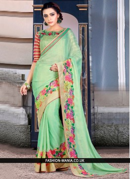 Amusing Embroidered Work Classic Designer Saree