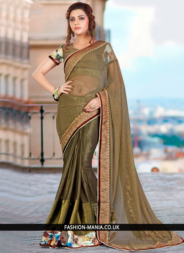 Superb Embroidered Work Classic Designer Saree